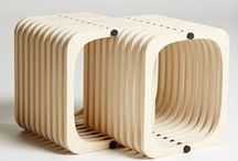 Repetition / Repetition stools designed by Henrik Sørig for the Cabinetmakers Autumnexhibition 2012. Ash & smoked oak. Create your own shape.