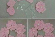 МК (цветы из ткани)