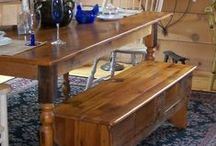 Reclaimed Barn Wood Furniture / Green Wolf's - Elegant Junque offers vast selection of reclaimed Pennsylvania barn wood furniture.  Custom orders available.  Free delivery up to 15 miles.