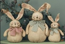 stuffed rabbits / For celebrating Easter or sown for a little one