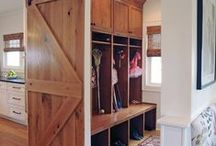 Mud room Madness / Organized Entry Spaces