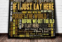 Personalised Word art / Personalised Word art designs printed on canvas. Song lyrics are a great inspiration for playing around with these tools.