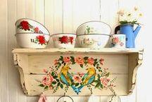 ••• Folk furniture ••• / meble, folkowe, malowane