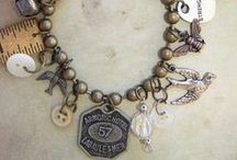 vintage assemblage jewelry / Beautiful assemblage jewelry made with vintage and antique elements. / by Sparrow Salvage
