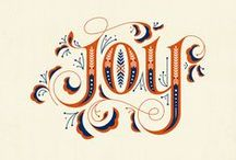Typography / Beautiful and clever type