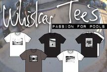 """Whiskey Tee's / """"Find the Line"""" """"Passion for Pools"""" is the motto for this line of skateboard tee's."""
