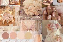 Beautiful blush, silver and ivory wedding  / Blush, silver and ivory wedding inspiration