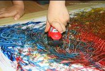 kids art - prace plastyczne / creative painting ideas for kids - pomysły na kreatywne malowanie