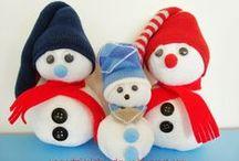 snowman crafts - projekty bałwankowe / snowman crafts for kids  - jak zrobić bałwana - pomysły na prace dla dzieci
