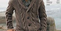 Knits for Men / Knit Men's Sweater Free Patterns!