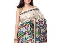 Kantha Sarees / Truly ravishing and chic, marvellous designing. Hand woven Kantha Sarees on Silk.