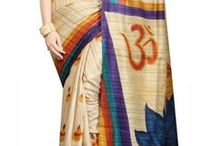 Hand Painted Sarees / Superbly Hand Painted Sarees. Creativity at its best.