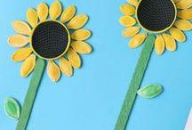 flower crafts / kwiaty - prace dla dzieci / flower crafts and activities for kids /kwiaty -prace plastyczne, pomysły na zabawy dla dzieci