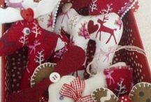 Vianočné inšpirácie / Christmas Ideas / Weihnachten Ideen / Navidad Idea / Idees de Noel / toto všetko sa dá vytvoriť aj z našich látok