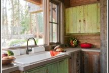 Cabin Kitchen Ideas / Unique ideas for designing or decorating your cabin kitchen!