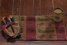 Cabin Linens / Reflect your love for the outdoors and nature with linens for your table, windows and bath.