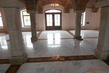 Custom wood floor inlays / Job in Poland