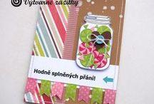 Materiál: Washi. Washi tape. / Ukázky ke knize J. Ščerbové Cardmaking - barvy, tvary, styly. Grada Publishing, Praha 2016.