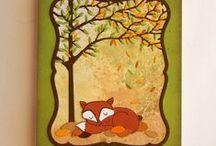CM Barvy: oranžová, zelená, hnědá. Orange, green, brown cards. / Ukázky ke knize J. Ščerbové Cardmaking - barvy, tvary, styly. Grada Publishing, Praha 2016.