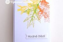 Styl: Clean & Simply. / Ukázky ke knize J. Ščerbové Cardmaking - barvy, tvary, styly. Grada Publishing, Praha 2016.
