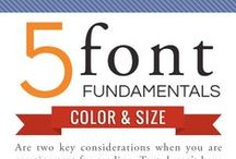 Font Fascination : Infographic Awesomeness / Everyone has their favourite, for different reasons, in different cases ...