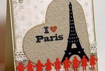 Téma: Paříž. Paris and cards.