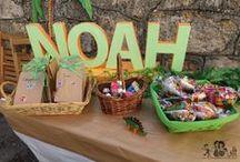 """Fiesta de dinosaurios """"El viaje de Arlo"""" #Noah4años / Ideas y resultado de la fiesta de 4º cumpleaños de Noah."""