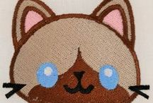 Cute digital embroidery designs / All things cute and adorable. Perfect for baby and kids embroidery  (blankets, towels and clothes)