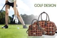 Signare ♥ Golf / Golf #gift ideas.  No need to leave your feminity out this season, our #Golf bags give you that whole in one feeling!  Signare Tapestry Handbags, look good and feel golfy!