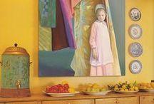 Noel LOOKBOOK / Photographs of Noel's paintings in homes.