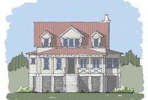 Half Moon Bay Home Plan / Coastal Cottage Home Plan