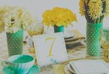{mint & mustard} wedding / mint&mustard | mint | mustard | yellow | contemporary | unique wedding | wedding inspiration | wedding invitations | wedding stationery