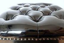 Black Quicksilver / Restored black tabouret. Original furniture from 1960. www.updatechair.com