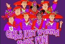 Red & Purple / The Red Hat Society! The Material Girls!! / by Vena' Franklin