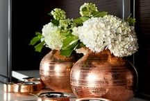 Autumnal copper hues / Copper inspiration for your home.