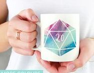 board gamer collection | mint&mustard / Geeky prints and mugs for board gamers and RPG players!