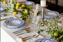 Table settings & center pieces / by Renee Buchanan
