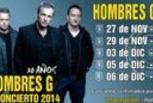 México 2014 gira Hombres G  / Próximos conciertos de Hombres G en México 2014.  Información: www.hombresg.net