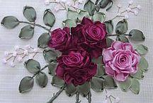 Kwiaty ze wstążek. DIY / Kwiaty ze wstążeczek. Dekoracje