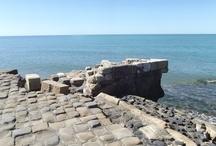 Le saline di Tarquinia.The natural reserve in Tarquinia / Un volta qui sorgeva il porto etrusco di Gravisca..Adesso è una riserva naturale. Once upon a time here there was the Etruscan harbour of Gravisca..nowadays is a natural reserve..