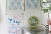 retro kitchens /  Kitchens I love with a vintage/retro vibe / by Sew Retro