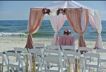 The Pearl Beach Wedding Package / Pensacola Beach ~ Perdido Key ~ Orange Beach ~ Gulf Shores Beach Wedding Package www.CoastalSoirees.com blush pink beach wedding ceremony
