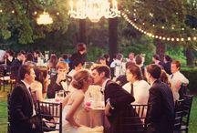Celebrate under the Stars / Weddings in the garden romantic rustic fairy lights