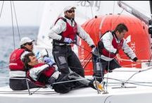 Gill Race Team & Partnerships / We work with top sailors and organisations across the world.