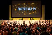 Les Mills BODYATTACK / BODYATTACK™ is the high-energy fitness class with moves that cater for total beginners to our total addicts and gets you fit for the sport of life.