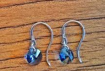 Pendientes Lentejuela / Pendientes de plata de ley y cristal de swarovski hechos a mano. #Handmade #Hechoamano