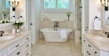 Beautiful Bathrooms / Bathrooms are a sanctuary to relax in, a dressing room to get ready in and a place for sandy toes to land after a long day at the beach. Whatever you use yours for most often, we have some beautiful bathroom inspiration for your space.