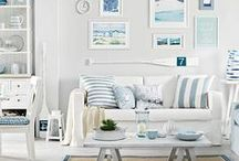 Nautical Homes / These nautical home decor ideas will have you planning your dream home with a view of the ocean. Featuring nautical stripes and maritime decor