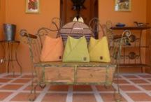 Bright summer handbags /  Colourful  summer handbags made of stone-washed canvas and leather.    www.tatyz.com