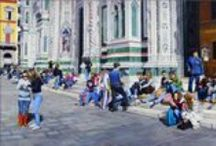 Florence Duomo / Some of my paintings are too large to take in all at once in one photo on the internet. Here is a collection of details of this painting. Happy Pinning!